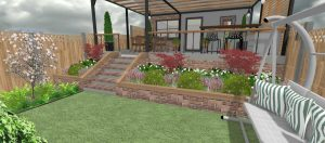 Terraced garden design