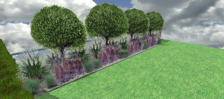 NP3 Rabata parkowa z kulistymi drzewami