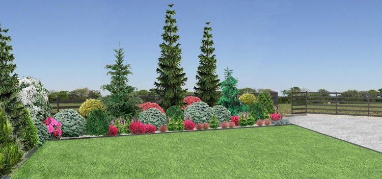 RK2 Rabata całoroczna z iglaków i krzewów
